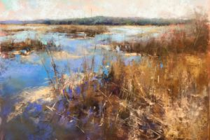 """""""Marsh Complements"""" by Jacob Aguiar, 9in x 12in, Soft Pastel"""
