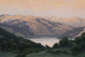 """Autumn Light"" by Charity Anderson, 12in x 21in, Oil"